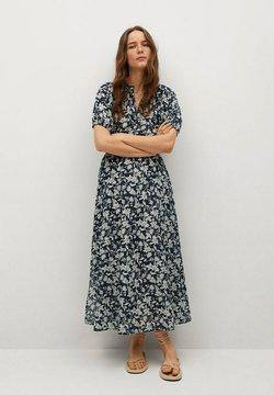 Mango - CALABASA - Maxi-jurk - azul marino oscuro