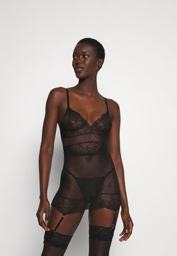 Ann Summers - SCANDALOUS CHEMISE SET - Body - black