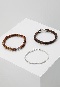 Icon Brand - STREET SAFARI COMBO 3 PACK - Bracelet - brown