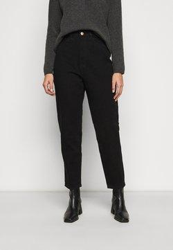 Missguided Petite - RIOT MOM - Straight leg -farkut - black