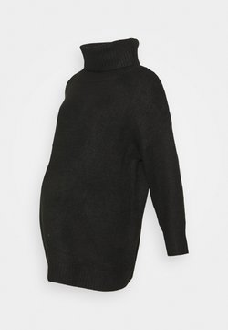 Topshop Maternity - OVERSIZED ROLL - Maglione - black