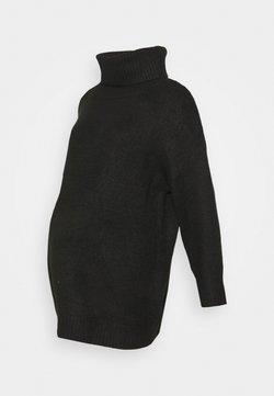 Topshop Maternity - OVERSIZED ROLL - Jersey de punto - black