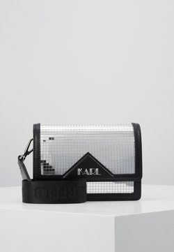 KARL LAGERFELD - DISCO SHOULDER BAG - Torba na ramię - silver