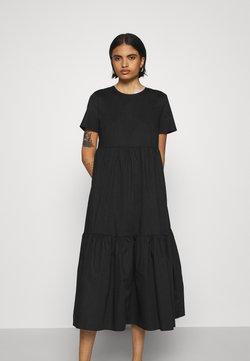 Glamorous - SHORT SLEEVE TIERED MIDI DRESS - Sukienka letnia - black