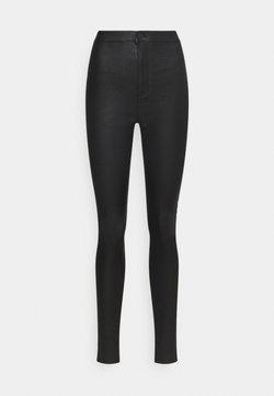Vero Moda Tall - VMJOY COATED PANTS MIX - Broek - black