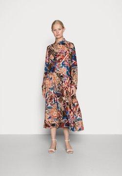 Emily van den Bergh - DRESS - Blusenkleid - brown/blue/orange
