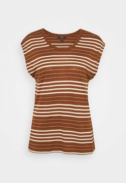 Esprit Collection - STRIPE TEE - T-Shirt print - toffee