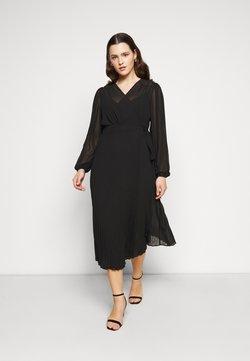 Forever New Curve - PENELOPE PLEATED WRAP DRESS - Freizeitkleid - black