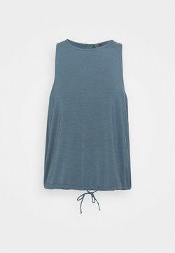 Sweaty Betty - FREEFLOW OPEN BACK TANK - Top - steel blue