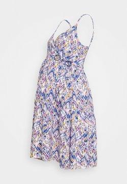 MAMALICIOUS - MLAGNES TESS ABK DRESS - Jerseyklänning - snow white/fragrant lilac