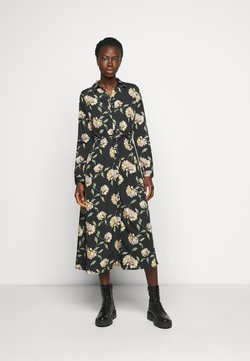 PIECES Tall - PCGYLLIAN MIDI DRESS TALL - Freizeitkleid - black/big flower