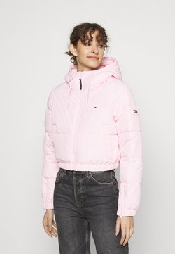 Tommy Jeans - CROPPED PUFFER - Winterjacke - romantic pink