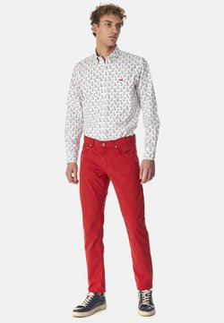 Harmont & Blaine - BASICO  - Pantaloni - rosso screziato