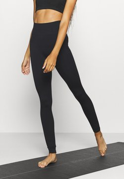 South Beach - SEAMLESS HIGH WAIST TEXTURED - Trikoot - black