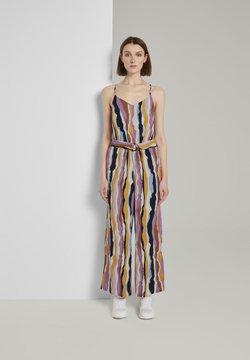 TOM TAILOR DENIM - OVERALLS STREIFENMUSTER - Combinaison - wavy multicolor stripes