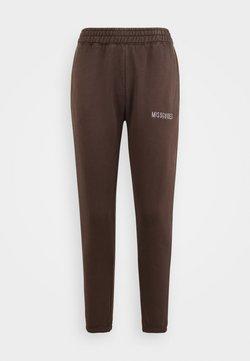 Missguided Petite - MISSGUIDED ACID WASH JOGGER - Pantalones deportivos - chocolate