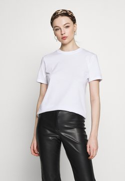 Selected Femme - SLFMY PERFECT TEE BOX CUT PETITE - Camiseta básica - bright white