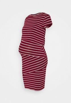Anna Field MAMA - Nursing Shift dress - Robe fourreau - red/off-white