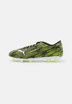 Puma - ULTRA 4.2 FG/AG - Moulded stud football boots - black/white/yellow alert