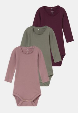 Name it - NBFROSEMARIE 3 PACK - Body - shadow/italian plum/deauville mauve