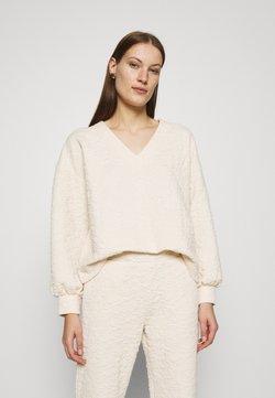 Selected Femme - SLFGINA V NECK - Sweatshirt - sandshell