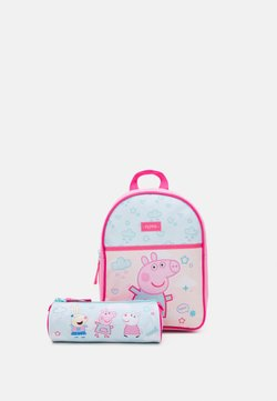 Kidzroom - BACKPACK PEPPA PIG ROLL WITH ME SMALL AND PEPPA PIG PENCIL CASE SET - Ryggsäck - pink