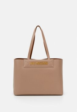 Love Moschino - THE NEW LETTERING - Torebka - taupe