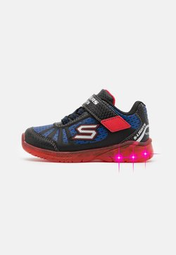 Skechers - Matalavartiset tennarit - black/red/blue