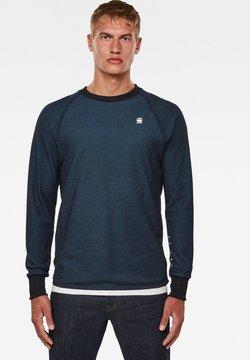 G-Star - JIRGI TAPE DETAIL ROUND LONG SLEEVE - Sweatshirt -  blue/cricket blue