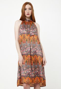 Madam-T - CELOSIA - Freizeitkleid - ingwer/rosa
