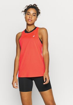 ASICS - RACE SLEEVELESS - Camiseta de deporte - flash coral