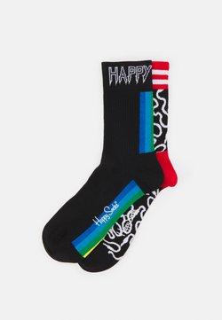 Happy Socks - WIRE 3/4 CREW SOCK COLOUR STRIPE 3/4 CREW SOCK UNISEX 2 PACK - Socken - multi-coloured