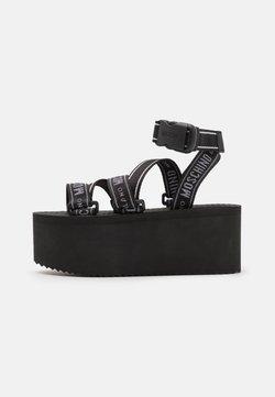 MOSCHINO - Korkeakorkoiset sandaalit - nero