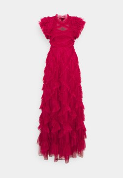 Needle & Thread - GENEVIEVE RUFFLE GOWN - Ballkjole - deep red/fuchsia