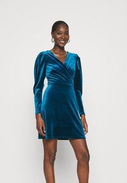 Closet - CLOSET WRAP FRONT PUFF SHOULDER DRESS - Sukienka letnia - teal