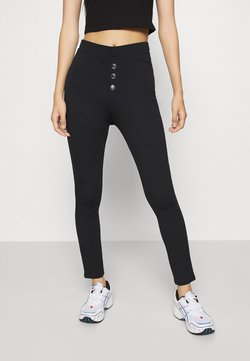 Even&Odd - Front buttoned Leggings - Legging - black
