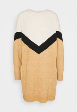 Vero Moda Tall - VMGINGOBLOCK O-NECK DRESS - Jumper dress - tan/black/birch