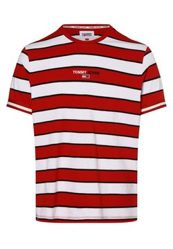 Tommy Jeans - T-Shirt print - rot weiß