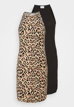 Vila - VIBE SINGLET DRESS 2 PACK - Jerseykleid - black/black