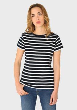 Armor lux - MORGAT MARINIÈRE - T-Shirt print - rich navy/blanc