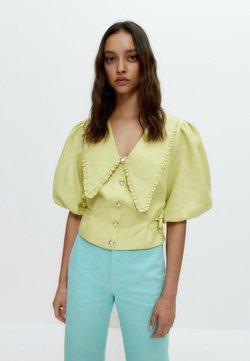 Uterqüe - MIT ABNEHMBAREM KRAGEN - Camicetta - light yellow
