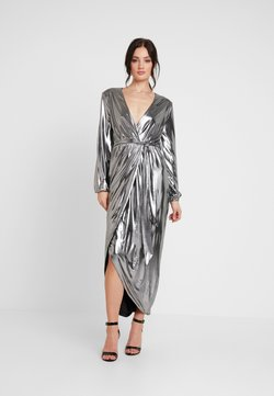 Nly by Nelly - METALLIC WRAP GOWN - Occasion wear - silver