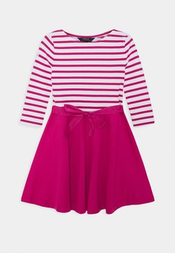 Polo Ralph Lauren - STRIPE SOLID DRESSES - Jerseykleid - college pink/white