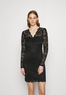 Vila - VIELLISA V NECK DRESS - Etuikleid - black