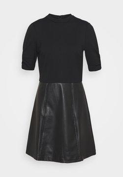 Dorothy Perkins - MIX MINI DRESS - Freizeitkleid - black