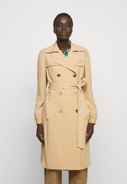 MICHAEL Michael Kors - DOUBLE BREASTED PUFF SLEEVE DRAPERY - Trenchcoat - khaki