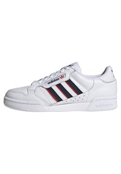 adidas Originals - CONTINENTAL 80 STRIPES UNISEX - Sneakers laag - footwear white/collegiate navy/vivid red