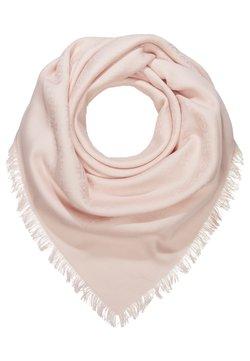 Tory Burch - LOGO TRAVELER SCARF - Huivi - lotus pink