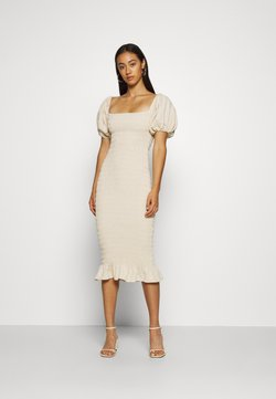 Never Fully Dressed - JOJO MIDI DRESS - Etui-jurk - offwhite