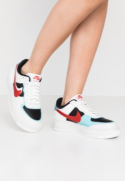 Nike Sportswear - AIR FORCE 1 SHADOW - Sneaker low - summit white/chile red/bleached aqua/black